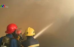 Gia Lai: Cháy kho nguyên liệu sản xuất than nén
