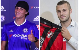 Ngày cuối kỳ chuyển nhượng Hè 2016: Chelsea đón David Luiz, Arsenal tiễn Wilshere