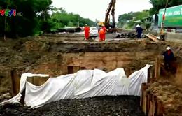 Phú Yên: Sụt lún, nứt mặt đường Quốc lộ 1 đoạn qua dốc Vườn Xoài