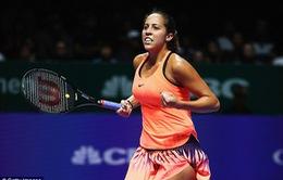 Bảng đỏ WTA Finals: Madison Keys có chiến thắng đầu tiên