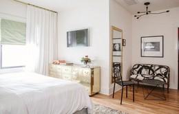 Phòng ngủ đẹp tinh tế với gam màu pastel