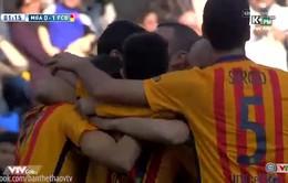 Barca sớm chọc thủng lưới Malaga từ rất sớm
