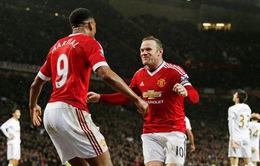 ĐHTB vòng 20 Ngoại hạng Anh: Martial và Rooney trở lại