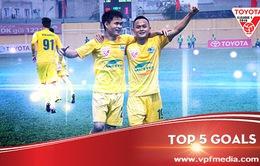 Top 5 bàn thắng đẹp nhất vòng 7 V.League: Quốc Phương dẫn đầu