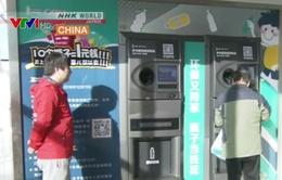 Máy tự động mua rác thải tái chế tại Bắc Kinh, Trung Quốc