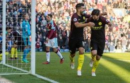 Vòng 13 Ngoại hạng Anh: Man City ngược dòng trước Burnley