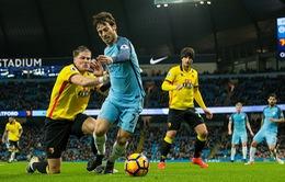 Vòng 16 Ngoại Hạng Anh: Man City 2-0 Watford: Giải tỏa cơn khát