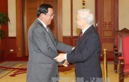 Tổng Bí thư Nguyễn Phú Trọng tiếp Thủ tướng Campuchia