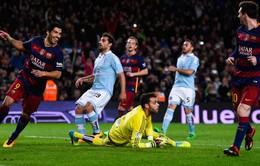 """Messi, Barcelona lại """"gây bão"""" với pha sút penalty siêu đồng đội"""