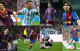 Chùm ảnh: Mái tóc của Lionel Messi qua từng năm