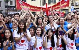 Hơn 3.000 bạn trẻ tham gia ngày hội giới trẻ Thủ đô Tôi yêu Tổ quốc tôi