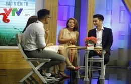 SlimV khoe bạn gái xinh đẹp trên sóng truyền hình