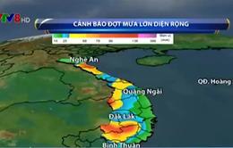 Từ 20 - 23/9, mưa lớn gây lũ từ Nghệ An đến Quảng Ngãi và Tây Nguyên