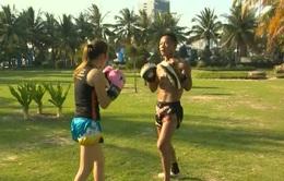 ABG 2016: Các võ sỹ tập luyện trước ngày thi đấu môn Muay Thái