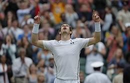 Tứ kết Wimbledon 2016: Murray vượt qua Tsonga sau 5 set kịch tính