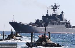 Hải quân Nga, Trung Quốc bắt đầu tập trận trên Biển Đông