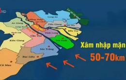 Mặn có thể xâm nhập 70km trên sông Hậu