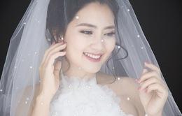 Diễn viên Ngọc Lan hóa cô dâu xinh đẹp