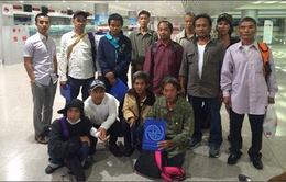 12 ngư dân Tiền Giang gặp nạn về nước an toàn