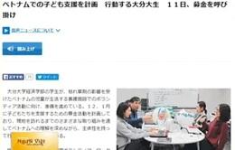 Sinh viên tỉnh Oita, Nhật Bản kêu gọi hỗ trợ trẻ em da cam Việt Nam