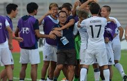 """HLV U19 Nhật Bản, Atsushi Uchiyama: """"Chúng tôi đã may mắn hơn""""!"""
