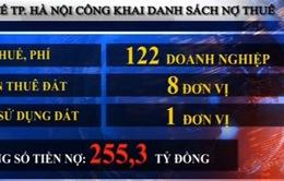 Hà Nội công khai 131 đơn vị nợ thuế, phí, tiền sử dụng đất