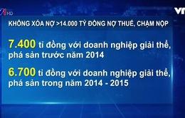 Không xóa nợ thuế hơn 14.000 tỷ VND đối với DN giải thể, phá sản