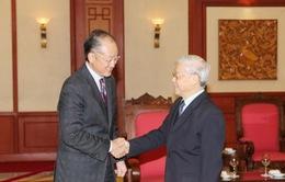 Tổng Bí thư tiếp Chủ tịch Ngân hàng Thế giới
