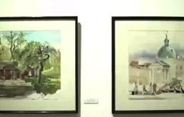 Triển lãm tranh màu nước Hàng Châu - Trung Quốc