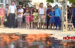Phát hoảng vì nước giếng… bốc cháy ở Quảng Ninh