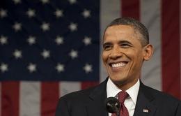 Tỷ lệ ủng hộ Tổng thống Mỹ Obama lên cao nhất trong nhiệm kỳ