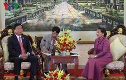 Bí thư Thành ủy Đinh La Thăng hội kiến lãnh đạo Campuchia