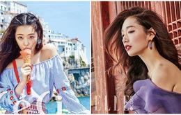 Park Shin Hye khoe lưng trần gợi cảm, Sulli dễ thương tỏa sáng trên bãi biển tại Italy