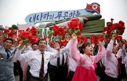 Hình ảnh buổi diễu binh hoành tráng của Triều Tiên