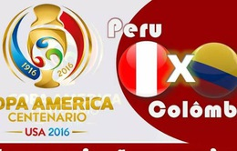 Tứ kết 2 Copa America 2016, Peru – Colombia: Rửa hận cho Brazil (7h, 18/6)