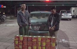 Hà Tĩnh: Bắt 2 đối tượng vận chuyển 45kg pháo lậu