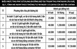Thu phí BOT trên QL1 qua Hà Nam từ 24/11