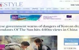 """Trung Quốc cảnh báo cơn sốt bộ phim """"Hậu duệ Mặt trời"""""""