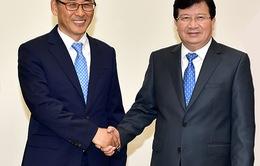 Phó Thủ tướng Trịnh Đình Dũng tiếp Tổng Giám đốc Công ty Doosan Vina