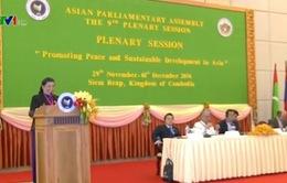 PCTQH Tòng Thị Phóng dự Hội nghị các nghị viện châu Á lần thứ 9