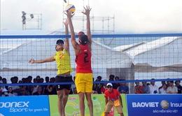 Bóng chuyền bãi biển Việt Nam có 3 trận thắng tại ABG5
