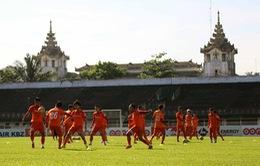 Buổi tập thứ hai của ĐT Việt Nam tại Yangon: Tuấn Anh vẫn ở chế độ chờ