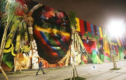 Nghệ sĩ lập kỷ lục vẽ tranh tường ăn mừng thế vận hội Olympic