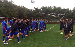 ĐT Việt Nam đặt chân đến Hàn Quốc, bắt đầu đợt tập huấn dài 2 tuần