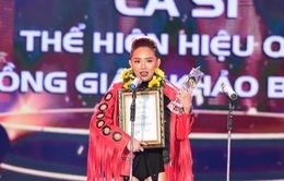 Tóc Tiên nhận cú đúp giải thưởng của VTV Bài hát tôi yêu