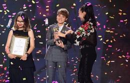 Vũ Cát Tường ẵm giải thưởng cao nhất của VTV Bài hát tôi yêu