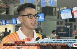 VIDEO: Chia sẻ của ĐT thể dục dụng cụ Việt Nam khi lên đường sang tham dự Olympic Rio 2016