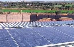 Tấm pin năng lượng mặt trời giảm bớt nỗi lo thiếu điện