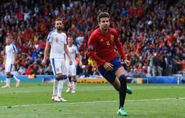VIDEO: Bàn thắng duy nhất của Pique giúp Tây Ban Nha thắng nhọc CH Czech