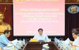 Trưởng Ban Tổ chức Trung ương Phạm Minh Chính làm việc với Bộ Nội vụ